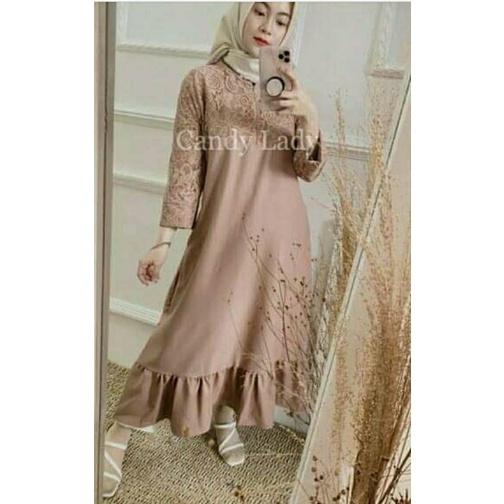 Dress Maxy Brukat / Dress Lebaran / Tunik Brukat / CandyLady Candy Lady