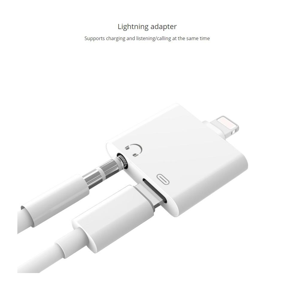 2in1 adapter lightning aux audio kabel charger jack untuk iphone 7 8 x shopee. Black Bedroom Furniture Sets. Home Design Ideas