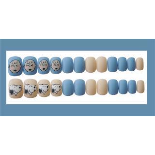 24 Kotak Stiker Kuku Palsu Motif Snoopy Warna Biru Muda Dapat Dilepas 8