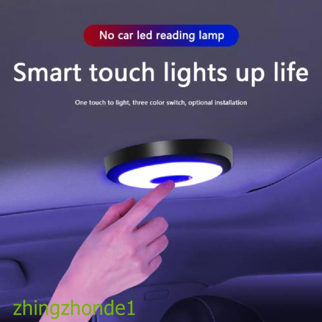 Hot Car Led Roof Lamp Auto Interior Dome Reading Touch Usb Atmosphere Ceiling Light For Vehicle Home Outdoor Camping Shopee Indonesia