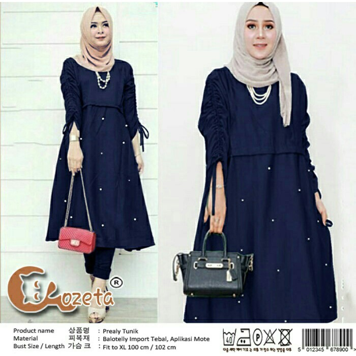 Honeyclothing Baju Tunik Wanita Izo Baju Kemeja Muslim Wanita Baju ... fd00615b05