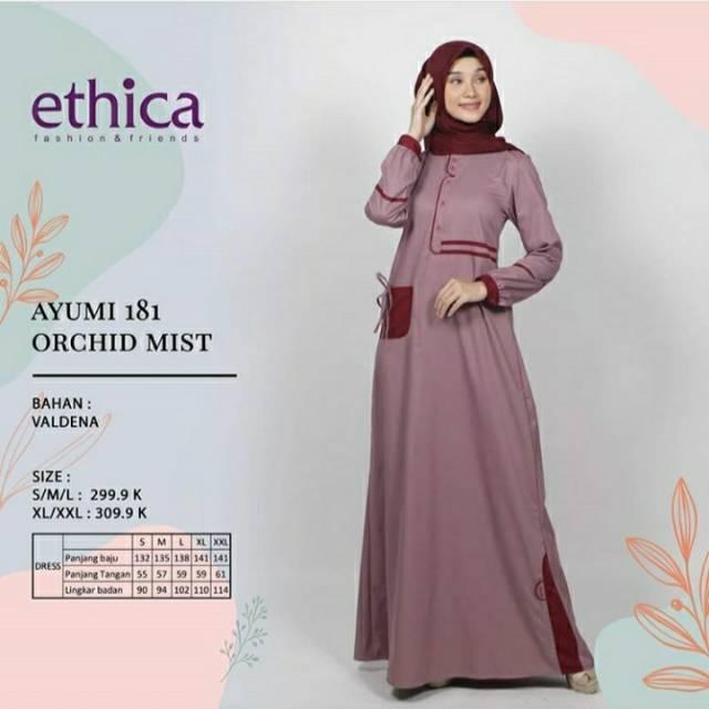 Ethica Ayumi 181 Baju Muslim Gamis Wanita Dress Ayumi Original Terbaru 2020 Shopee Indonesia