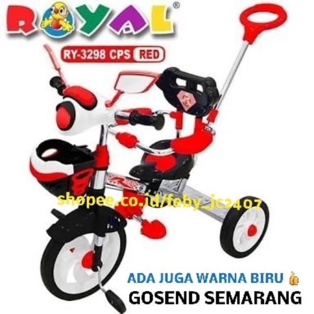 GOSEND SEMARANG SEPEDA ANAK RODA TIGA TRICYCLE ROYAL 3298