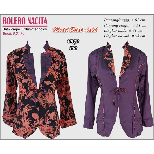 BOLERO BOLAK BALIK  bb01ede330