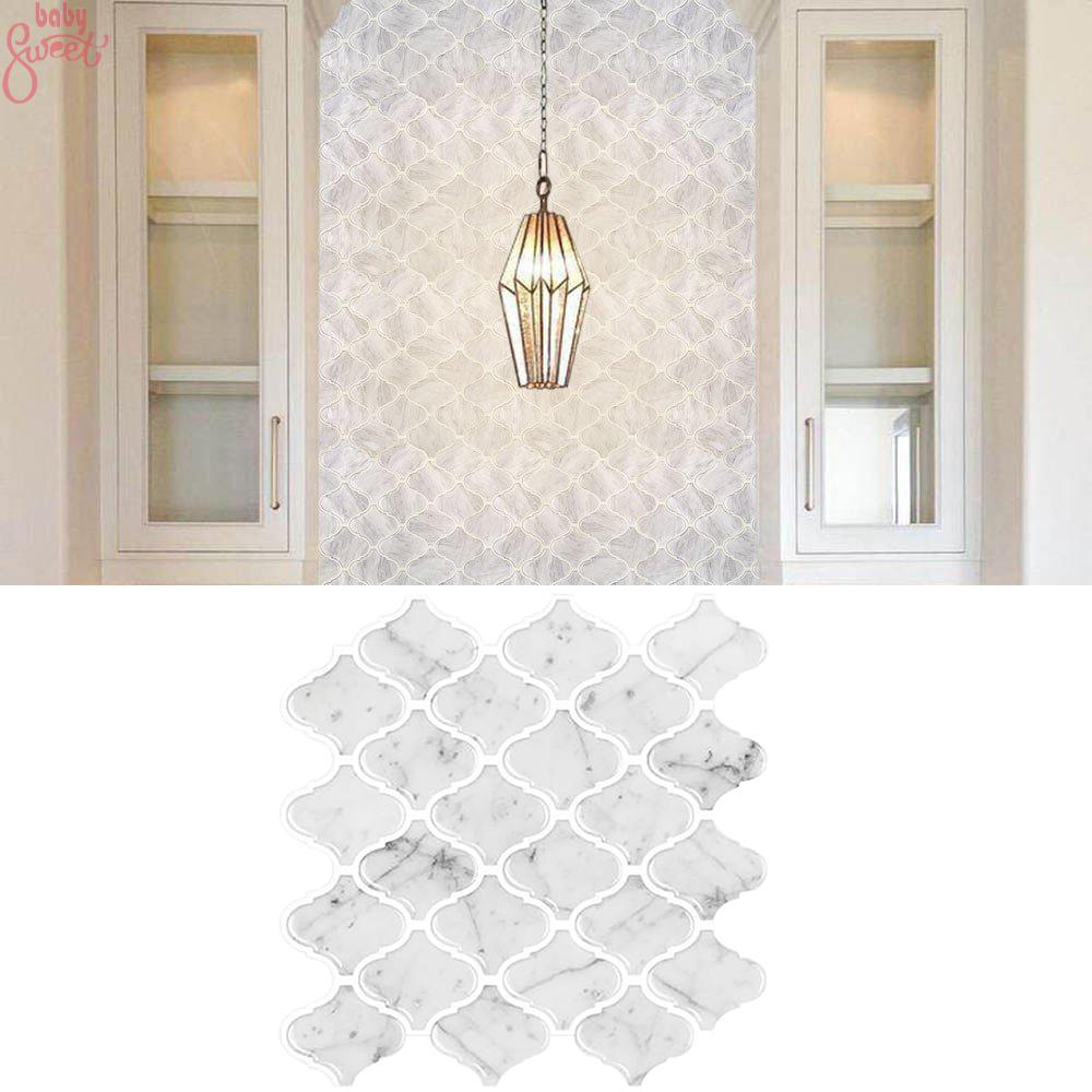 Wall Sticker Kitchen Tiles Bathroom Mosaic Home Living Room 3d Self Adhesive Peel Removable Shopee Indonesia