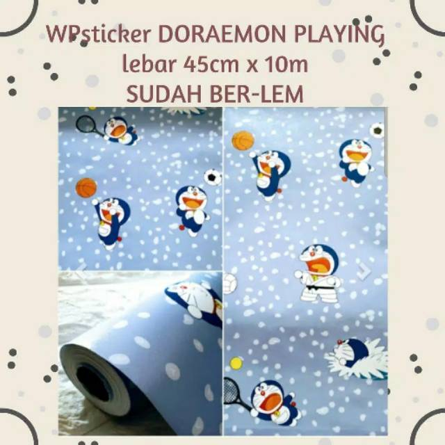 Baru Murah Wallpaper Sticker Dinding Biru Karakter Kartun Anak Doraemon Olahraga Sport Lucu Imut Shopee Indonesia