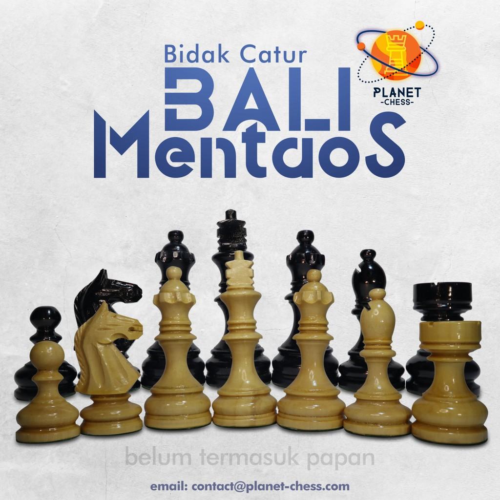 Bidak Catur Kayu Mentaos Model Bali Ekstra Menteri Premium Quality
