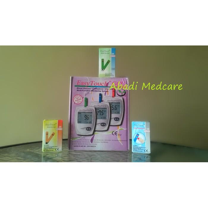Alat Tes Gula Darah Asam Urat dan Kolesterol Easy Touch GCU