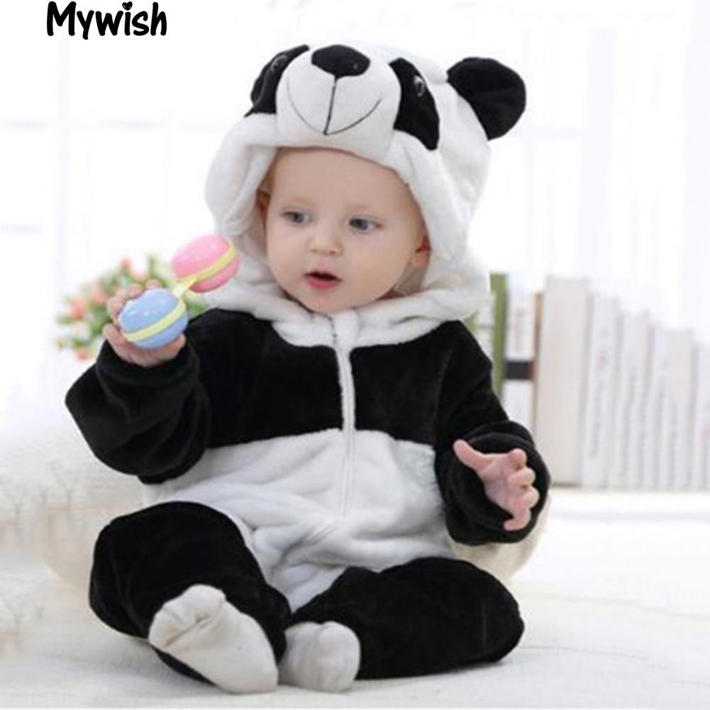 Bayi Laki Laki Perempuan Lucu Panda Kostum Bayi Baru Lahir Balita Jumpsuit Romper Hangat Shopee Indonesia