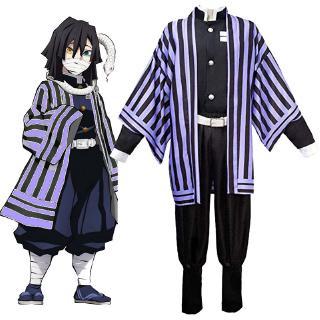 Kostum Cosplay Anime Demon Slayer No Yaiba Iguro Obanai ...