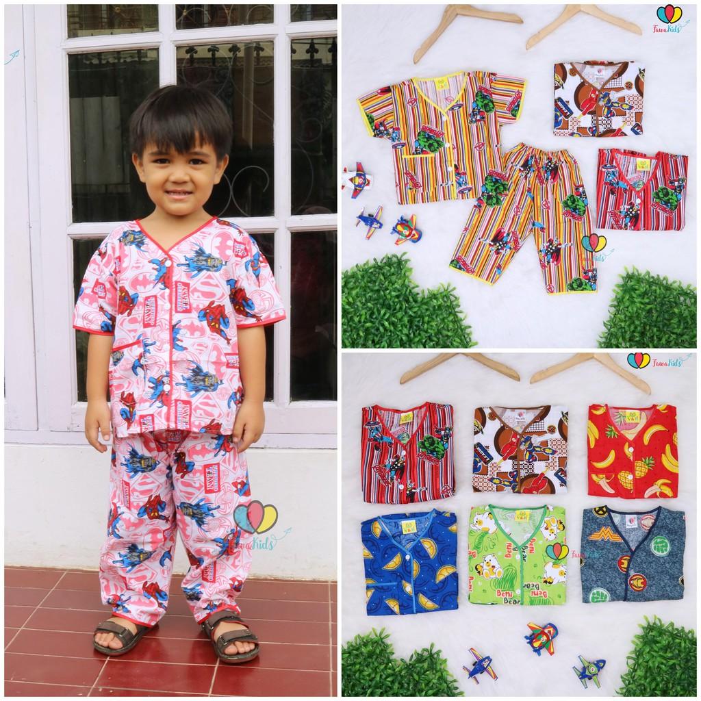 Baju Tidur Size 2 Tahun Piyama Kaos Kartun Anak Celana Panjang Baby 1 3thn Lovely Cow Setelan Laki Perempuan Shopee Indonesia