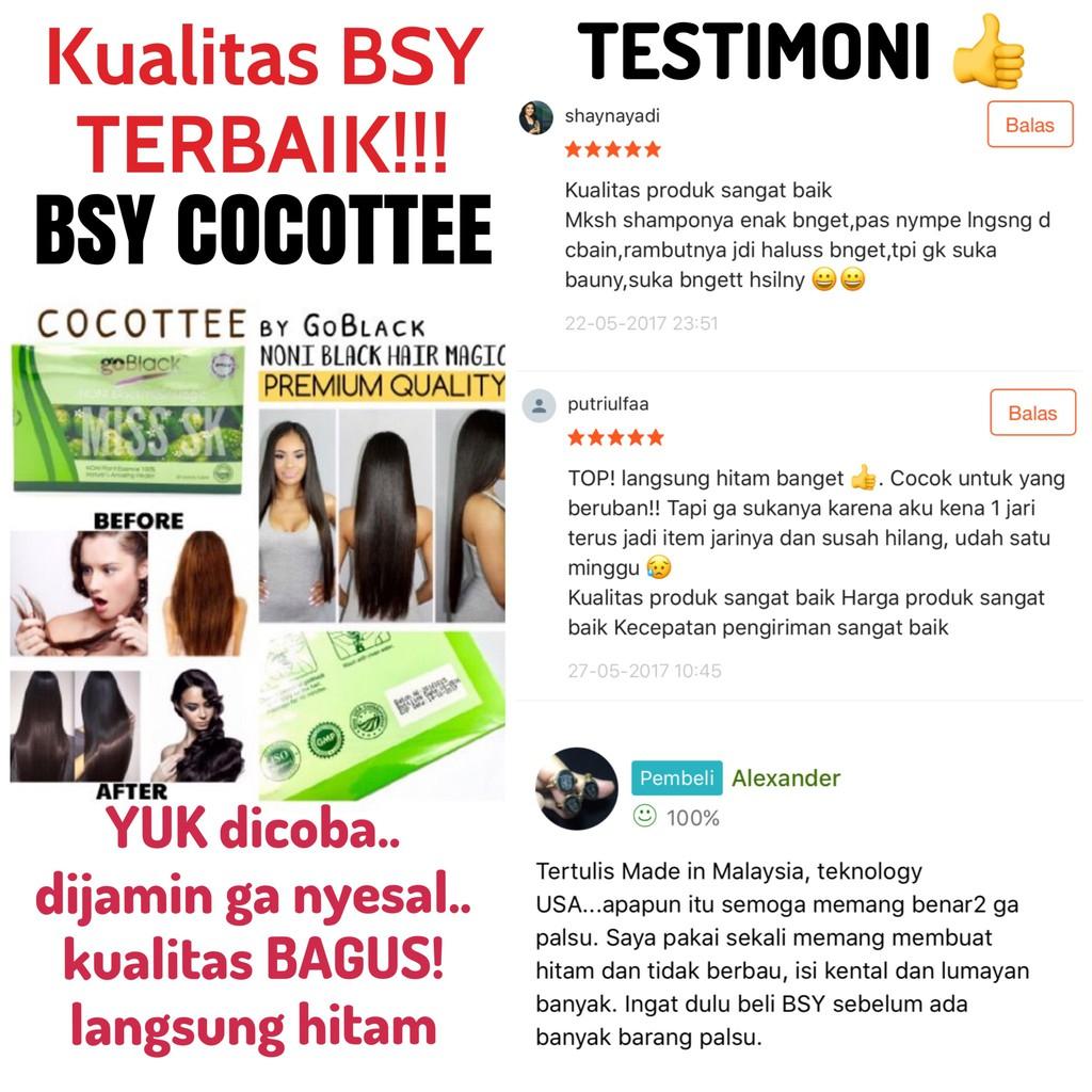 Cocottee Bsy Noni Hair Go Black Shampoo Original By Goblack 20 Bpom Shampo Sachet Shopee Indonesia
