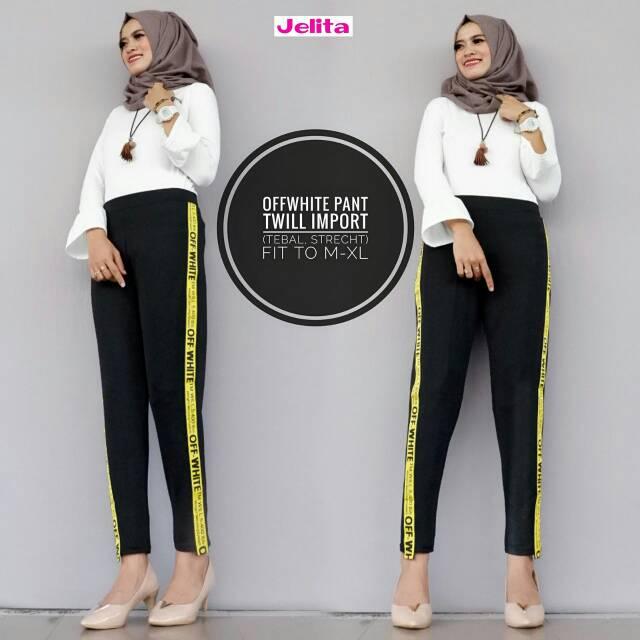 Of White Pant Celana Bawahan Celana Remaja Celana Kekinian Ootd Selebgram Leging Busana Wanita Shopee Indonesia