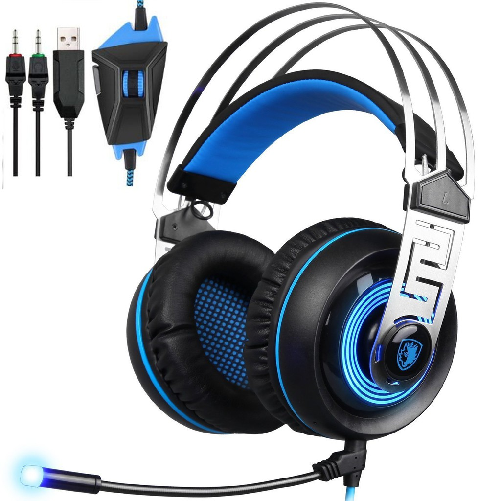 Headset Keenion Kos 0015 Hitam Update Daftar Harga Terbaru Indonesia  Extra Bass Sades Aw30 Usb Stereo Gaming With Mic Vibration Volume Led Shopee