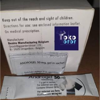 [929] Androgel 50mg ECER 1xSachet Asli Testosterone Gel Besins Europe Belgium TestoGel Testo Gel