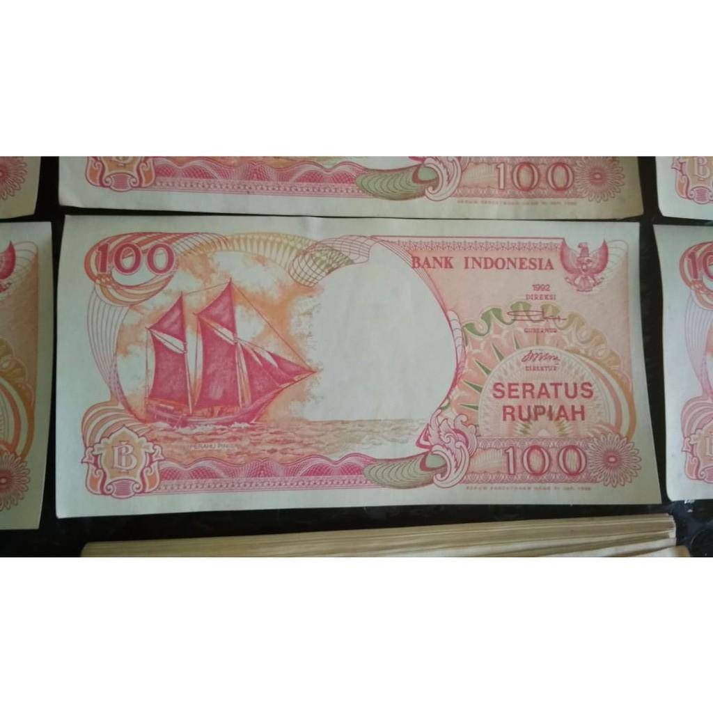 Uang kertas lama pecahan Rupiah 100  emisi 1992