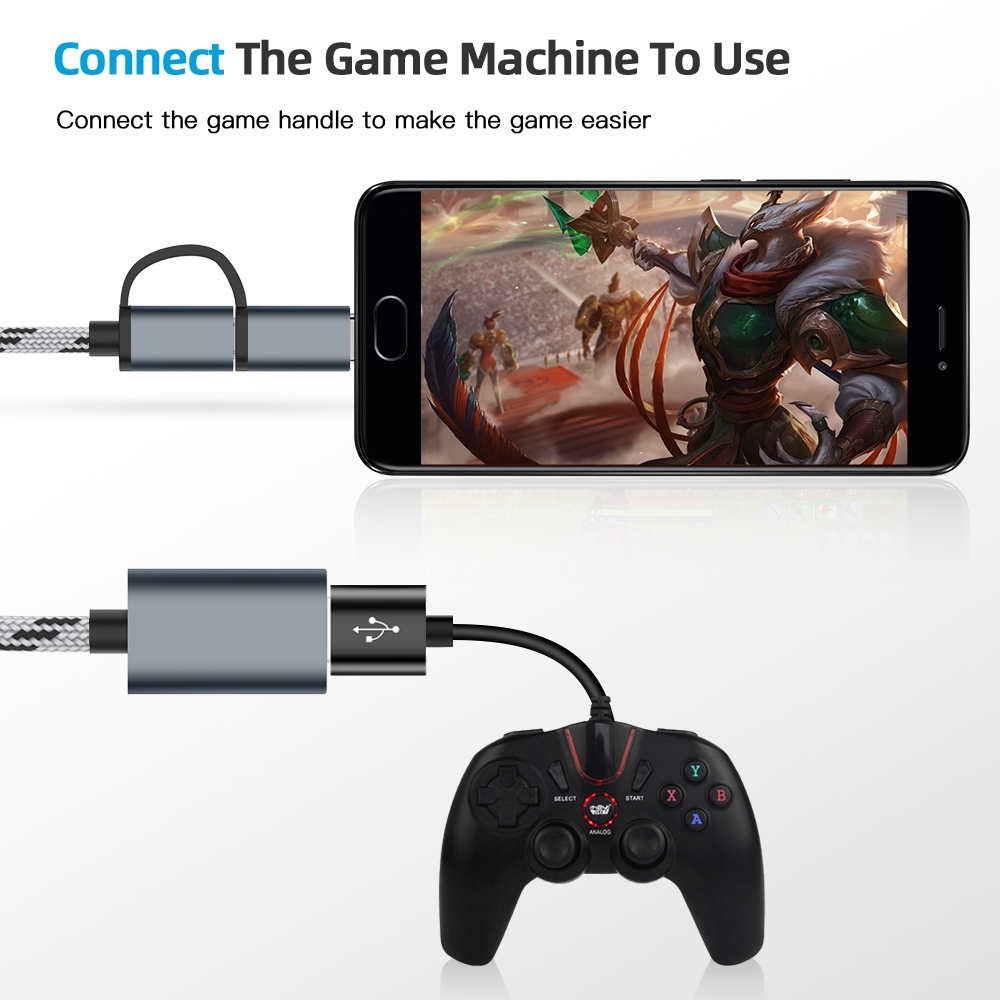 2 In 1 Usb 3 0 Otg Adapter Micro Usb Type C Cable Data Sync Adapter For Huawei Shopee Indonesia