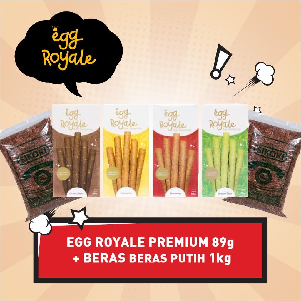 Egg Royale 89gr Bonus Beras Merah Ukuran 1 Kg Lembut Enak Murah Bergizi Pulen