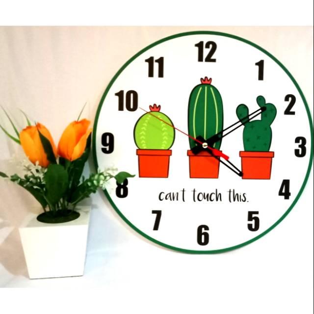 Jam dinding - vintage Kaktus 3a55347947