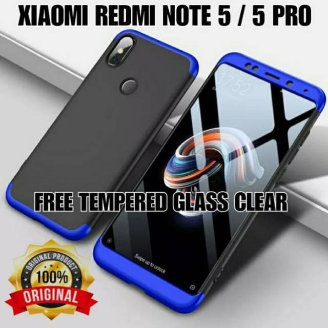 Xiaomi Redmi Note 5 Pro Case Premium 360 Gkk Original Free Tempered Glass Case Xiaomi Redmi Note 5