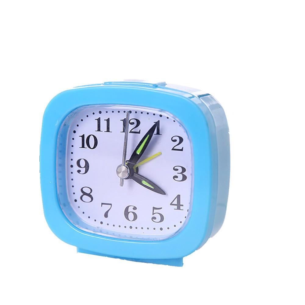 Simple Square Small Bed Compact Travel Quartz Beep Alarm Clock Cute Portable