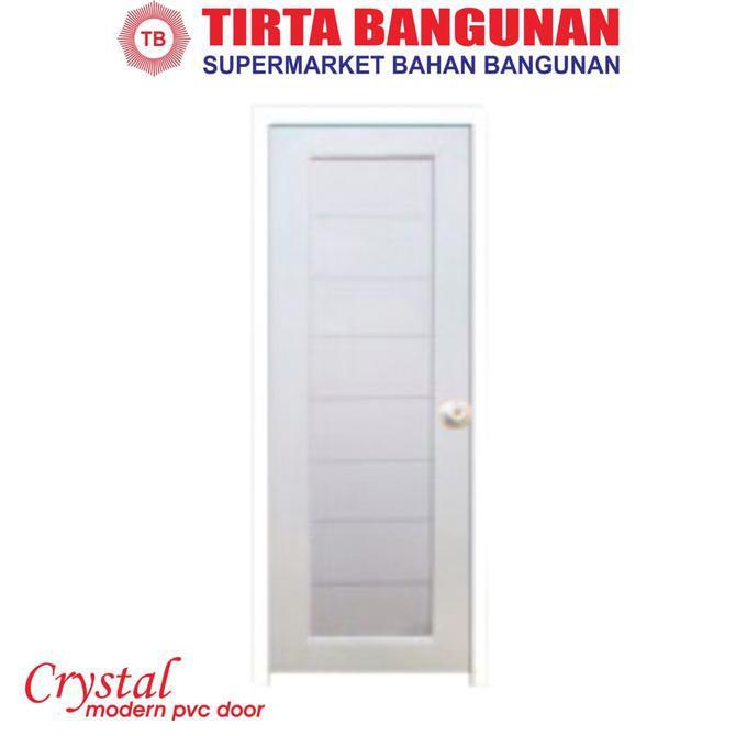Pintu Pvc Crystal Elegan Pintu Kamar Mandi 70 X 195cm Putih Shopee Indonesia
