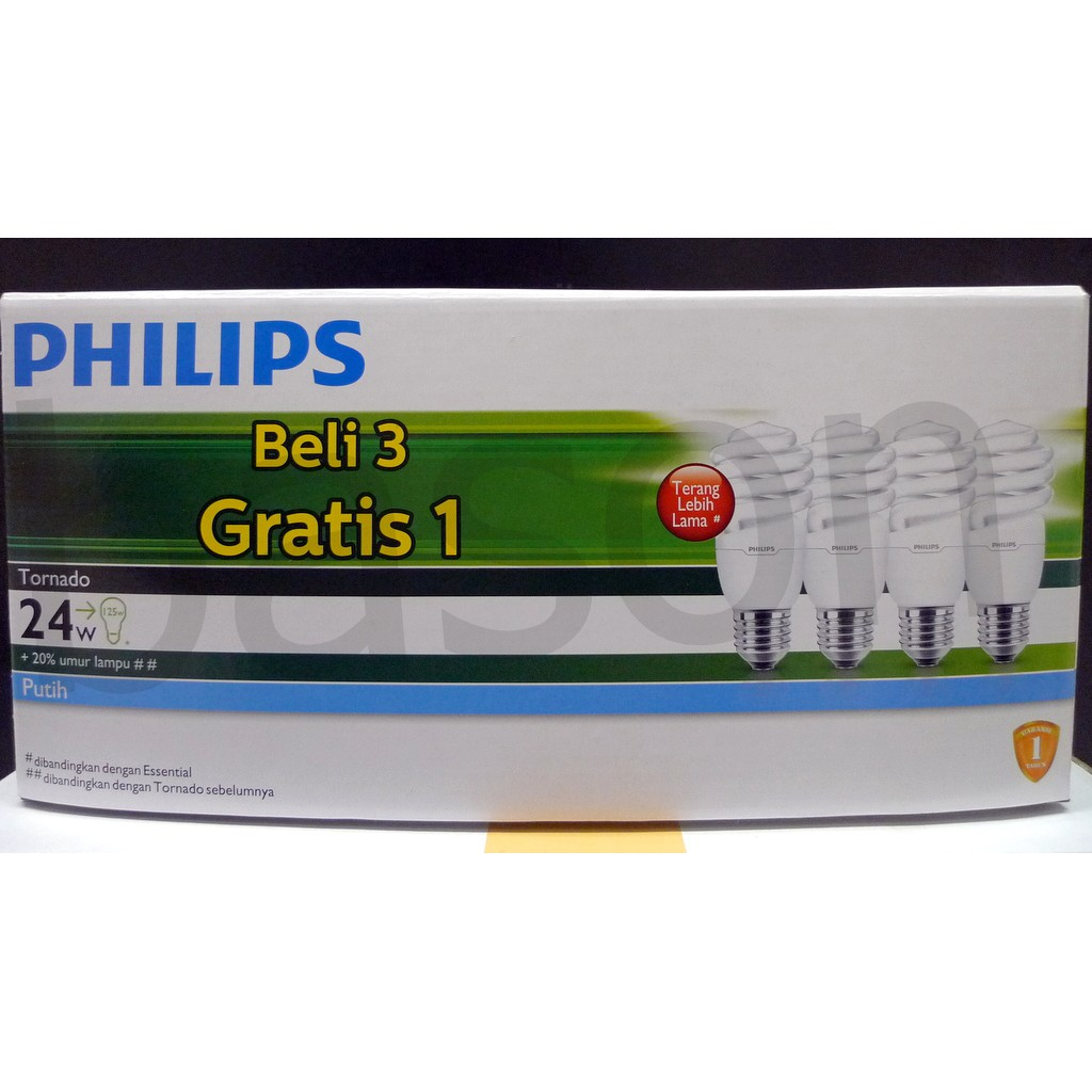 Tornado 5w Ww E27 220v Kuning Shopee Indonesia Philips Led Classic 7 70w G93