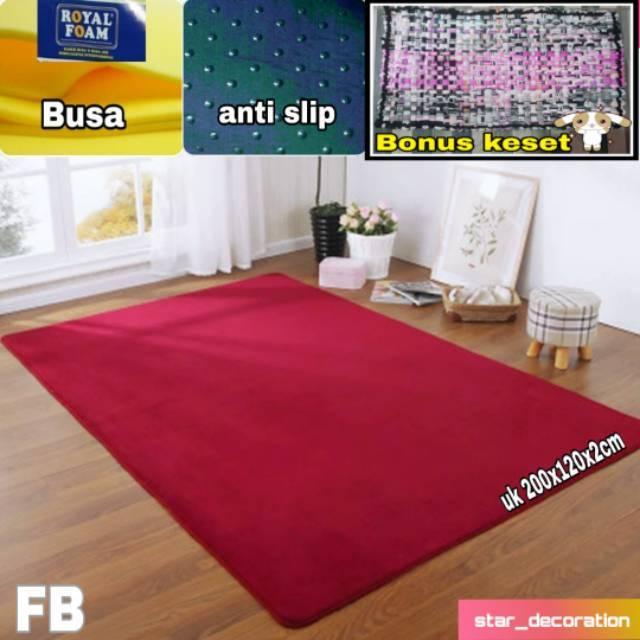Karpet bulu rasfur uk 200x120x2cm Shopee Indonesia