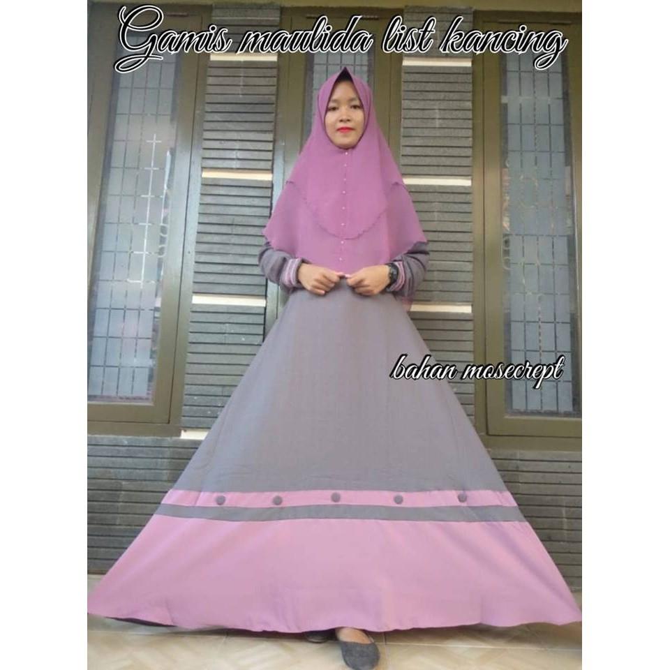 Gamis Balotelli Polos Dress Mayung 35m Termurah Shopee Indonesia