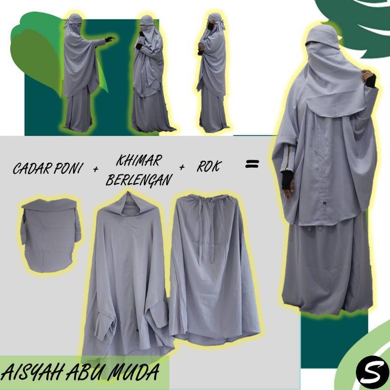 Gamis Setelan French Khimar Aisyah Original Produk Muslimah