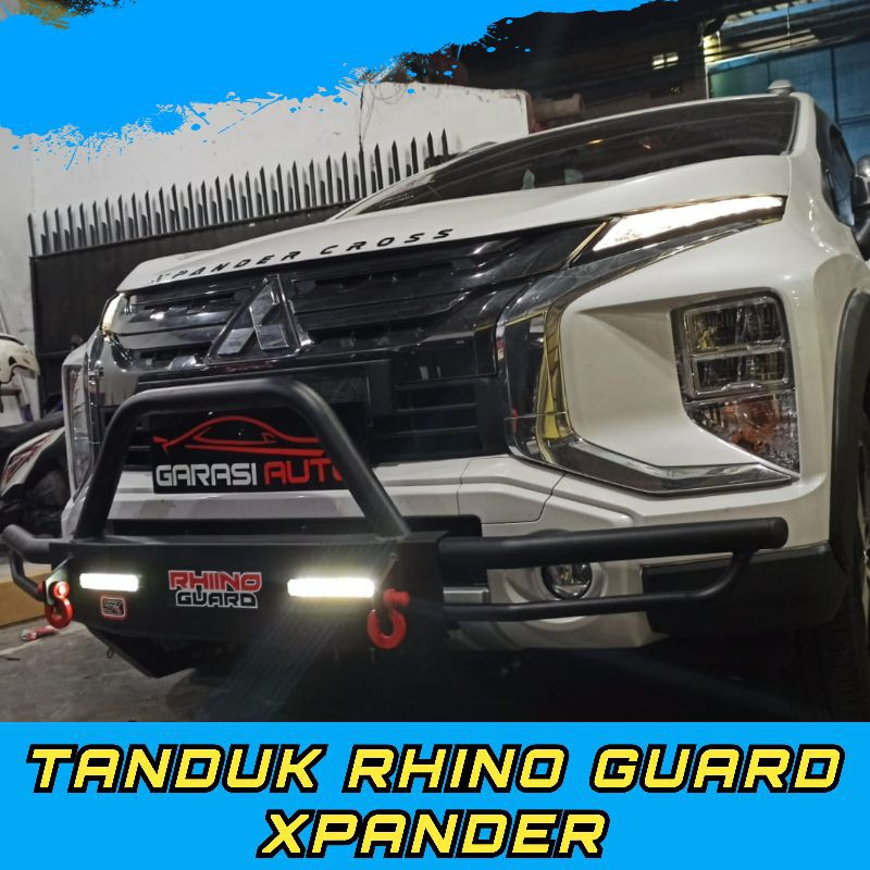 Tanduk Depan Mobil Xpander Cross Original Rhino Guard Towing Bar Bumper Bahan Besi Tebal No Arb Shopee Indonesia