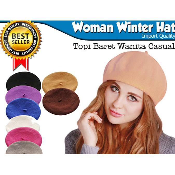 topi baret wanita - Temukan Harga dan Penawaran Topi Online Terbaik -  Aksesoris Fashion Februari 2019  9df2a1ffec