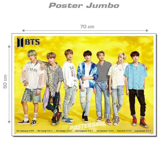 Poster Dinding Wallpaper Jumbo Bts Mui79 Ukuran 50 X 70 Cm Shopee Indonesia