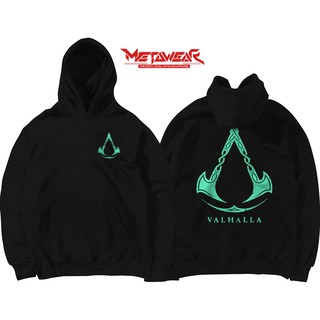 Sweater Game Distro Murah Assassins Creed Valhalla Logo Shopee Indonesia