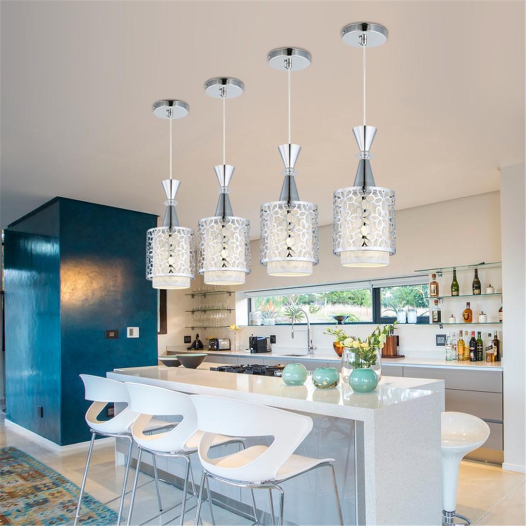 Modern crystal iron ceiling light pendant lamp dining room decor