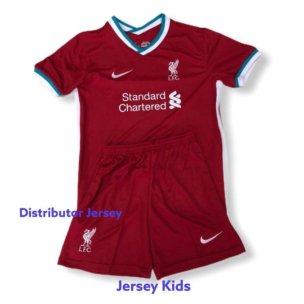 Jersey Kids Liverpool Home 2021 Grade Ori Shopee Indonesia