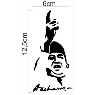 Sticker Cutting Sketsa Soekarno Sticker Wajah Soekarno Shopee Indonesia