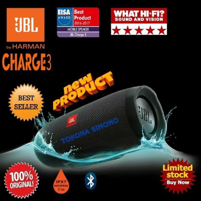 JBL Charge 3 Waterproof Portable Blluetooth Speaker - Garansi Resmi   Shopee Indonesia
