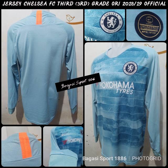 sale retailer eac1d 1a41c Jual Jersey Baju Bola Chelsea Long Sleeve LS Lengan Panjang Grade Ori GO  Third 3rd 18 19 2018 2019