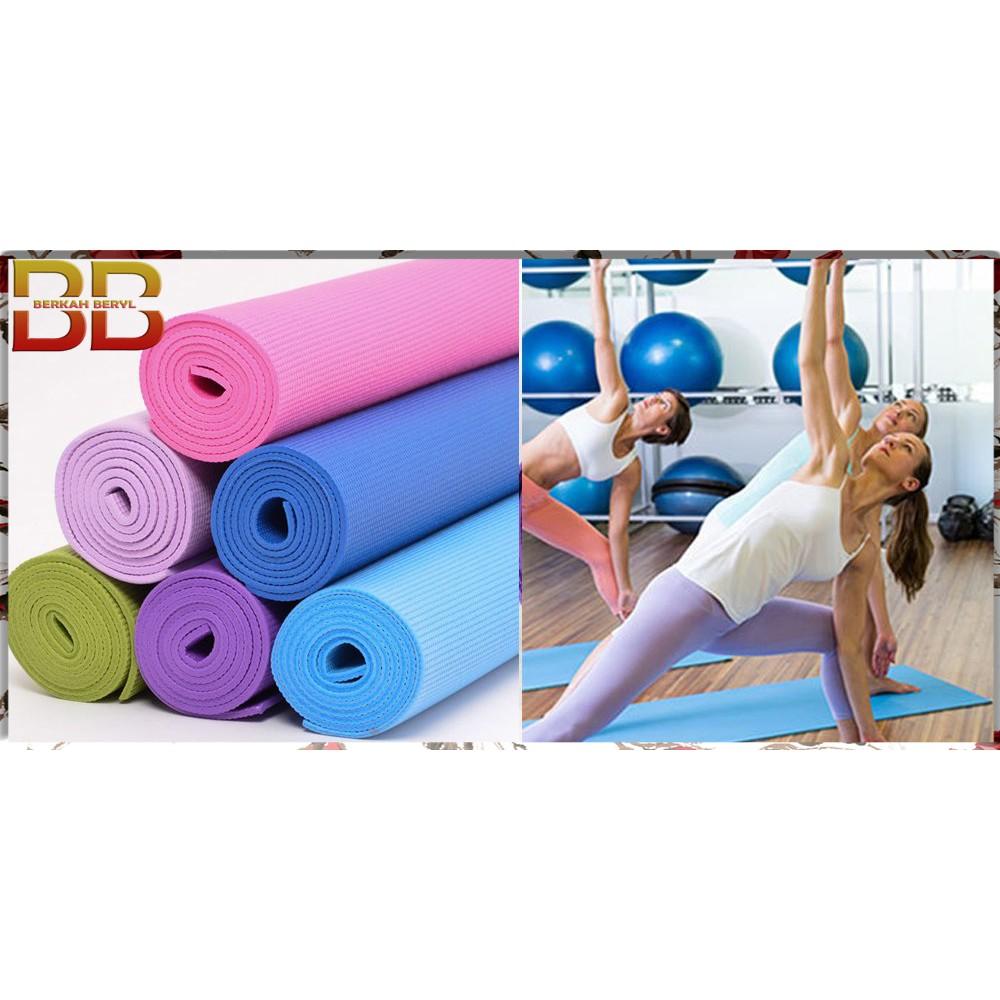 Jual Yoga Mat 6mm Matras Gulung Colour Limited Shopee Indonesia 8mm Tpe Rubber Eco Anti Slip Bag Edition