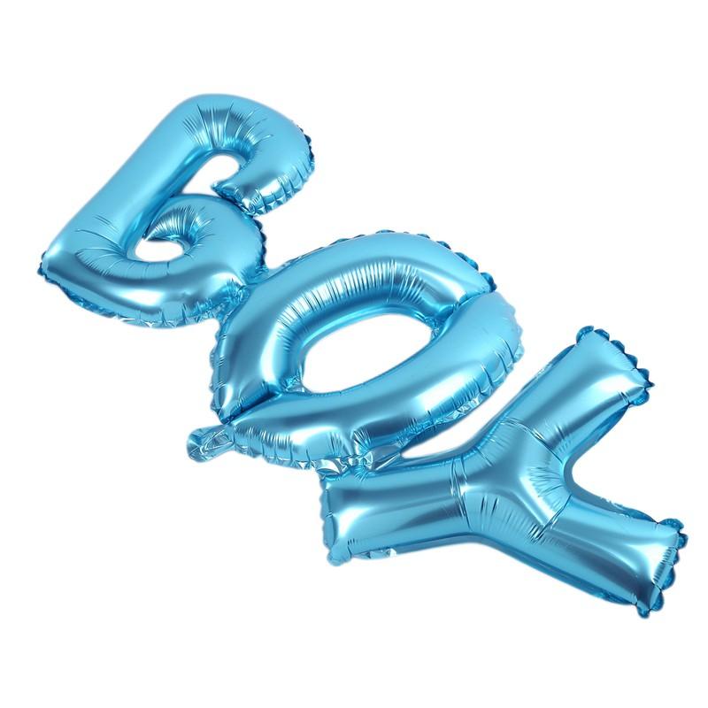 Boy Girl Foil Helium Balloon for newborn Baby Shower Christening Birthday Party