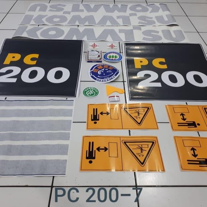 Sticker excavator komatsu pc 200-7 pc200-8 pc200-6