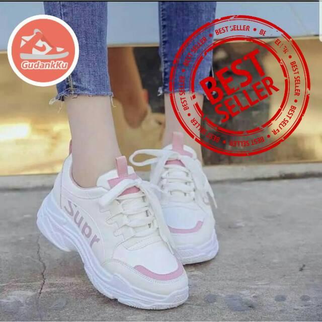 Sepatu Wanita Sneakers Sneaker Terbaru 2019 Putih Model Korea