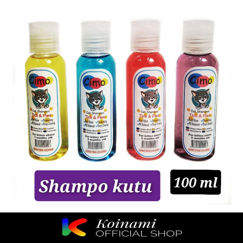 CIMO SHAMPO KUTU 100 ml / SHAMPO KUTU KUCING / GROOMING / BTM