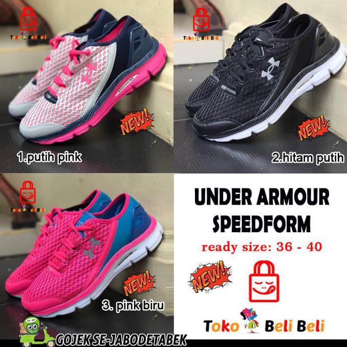 Sepatu Under Armour Speedform Import . Sepatu Wanita. Sepatu Sneakers - Abu  Pink e8fc5ea6f6