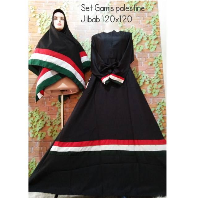 Khimar palestina set gamis palestin palestine jilbab hijab krudung syari  busana muslim fashion  f5967f59fd
