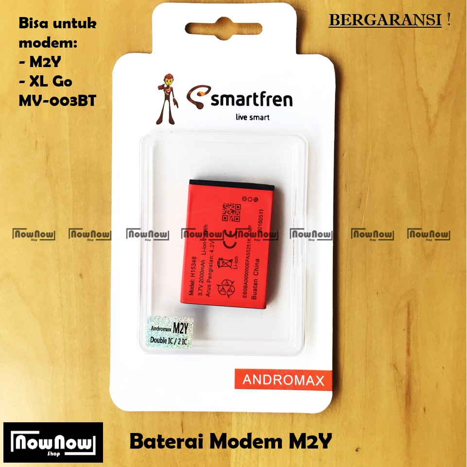 Baterai Modem Andromax M3y M3s Batre Original Smartfren Battery Log On M3z Mifi H15418 3000mah Shopee Indonesia