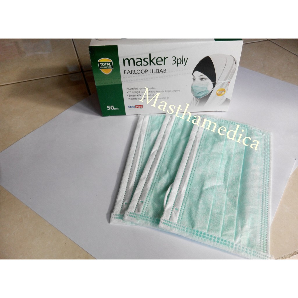 Terlaris Masker Hijab Jilbab Onemed Box 50pcs Sale 20 Shopee Indonesia