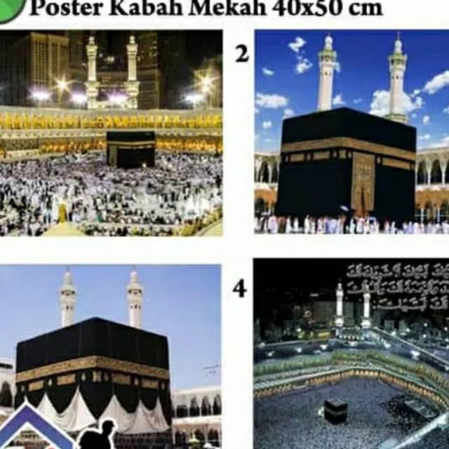 Poster Dinding Mekah Kabah Arab Saudi 40x50cm Shopee Indonesia