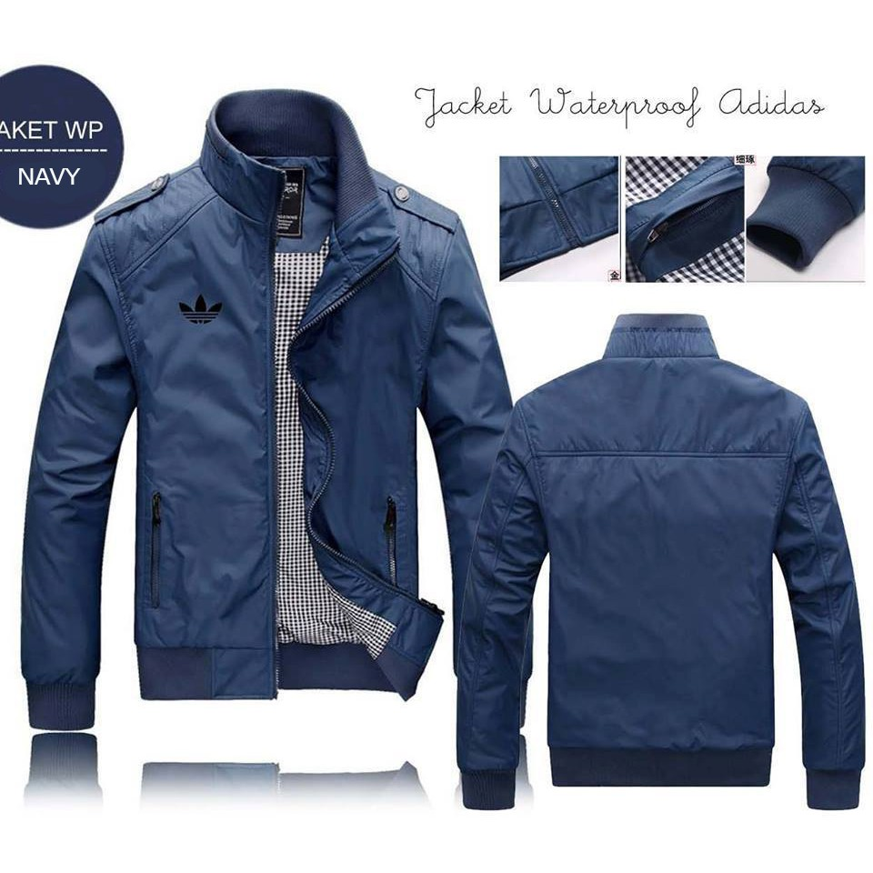 JAKET PARASUT WINDBREAKER   WATERPROOF pria fashionable (zip ... 3c933e65e4